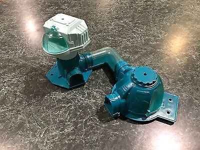 Vintage Blue Plastic Model Connecting Space Station Playset Parts **rare**