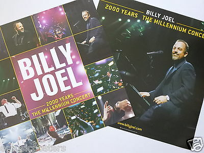 """Billy Joel """"2000 Years - The Millenium Concert"""" 2-Sided U.s. Promo Poster"""