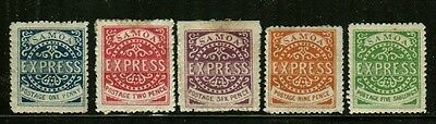 Samoa Express, 5 Different Reprints Mint Hinged