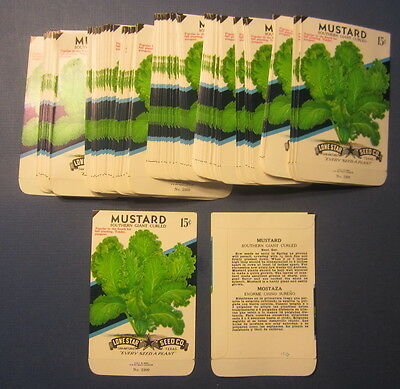 Wholesale Lot of 100 Old Vintage Southern Giant MUSTARD SEED PACKETS - EMPTY