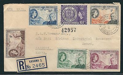 1953 Northern Rhodesia Registered FDC – Cecil Rhodes Centennial Sc#54-58 + #59