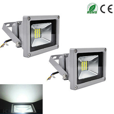 2X 20W Cool White LED Floodlight Security Garden Lamp IP65 Outdoor LED Light