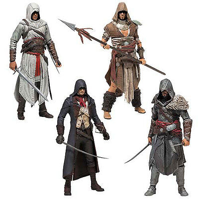 "ASSASSIN'S CREED - 6"" Series 3 Action Figure Set (4) McFarlane #NEW"