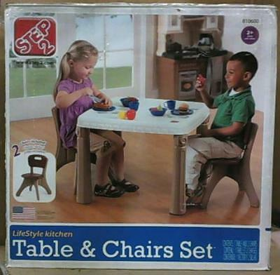 NEW OPEN BOX Step2 810600 Table and Chairs Set Tan $73