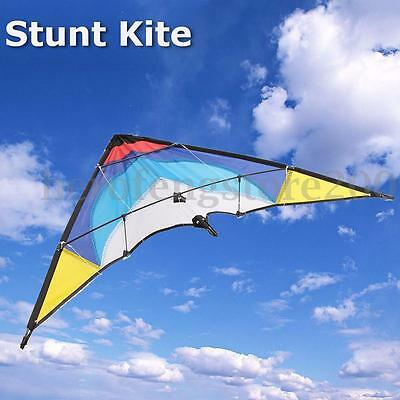 Beautiful Triangle Stunt Kite Outdoor Fun Sports Toy With Dual 30m Line Control