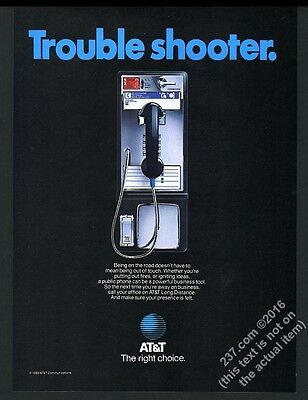 1985 AT&T payphone pay phone telephone photo vintage print ad