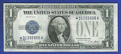 $1 1928A BEAUTIFUL Blue Seal FUNNYBACK *STAR Silver Certificate!