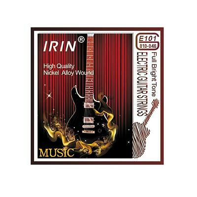 5 Sets Electric Guitar Strings Nickel Alloy Wound Bright Tone IRIN E101 010-046