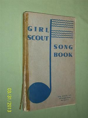 84 Year Old Antique Vintage Girl Scout Song Book, Early Scouting,Original
