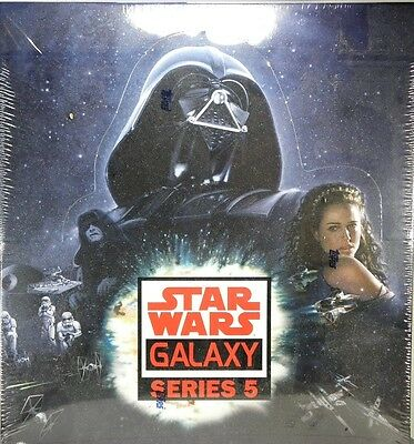 Star Wars GALAXY SERIES 5 Trading Cards Sealed hobby BOX Topps printing plates