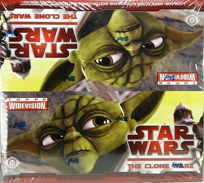 Star Wars The CLONE WARS Trading Cards Sealed hobby BOX Topps Widevision
