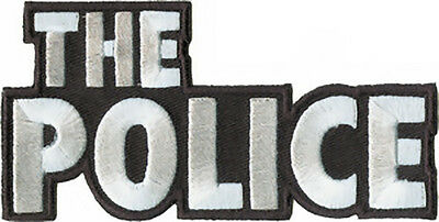 The Police Iron-On Patch Letters Logo