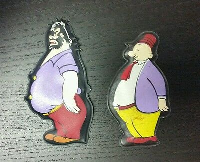 POPEYE VINTAGE PUFFY MAGNET LOT OF 2 BRUTUS  WIMPY King Features
