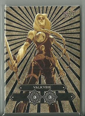 2016 Upper Deck Marvel Gems Double Diamond Mine Gold Parallel Valkyrie #ed 2 / 5