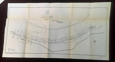 Original 1904 IMR 3rd District Revetment at Greenville Harbor Mississippi Map