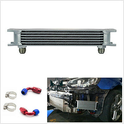 Professional Car 7 Row AN10 Engine Transmission Oil Cooler & 2*Hose End Fittings