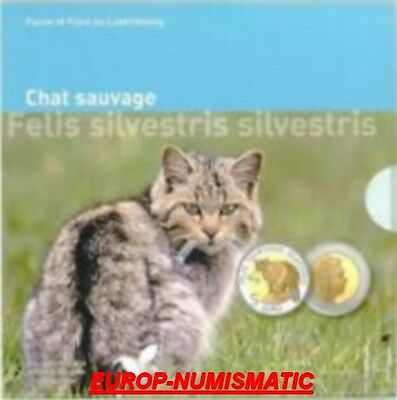 """LUXEMBOURG 2015  5 EURO BE/PP/PROOF"""" CHAT SAUVAGE """" SUPERBE En stock"""