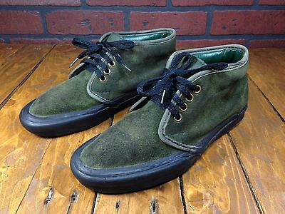 Vintage 1980's Vans Chukka Sneakers MADE IN USA Shoe Womens 7.5 Mens 5/5.5 Green