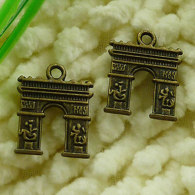 Free Ship 70 pieces Antique bronze nice charms 18x14mm #2537