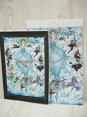 FINAL FANTASY 25th Anniversary Art Set Illustration Book w/Folder Ltd SE*