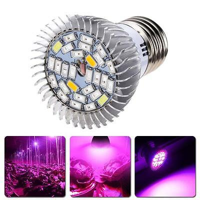 Full Spectrum 28W E27 LED Grow Light Kit Hydroponics Plant Veg Flower Lamp Blub