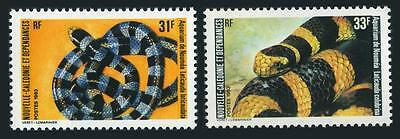 New Caledonia 489-490,MNH.Michel 716-717. Local snakes,1983.