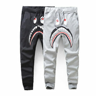 2016 New Bape Shark Men's Unisex Sports Casual Cotton Sweat Pants Trousers