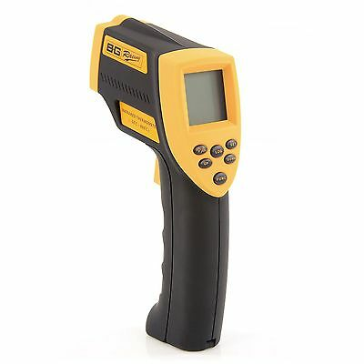 B-G Racing 9v Infrared Thermometer Temperature Reading Gun With Data Storage