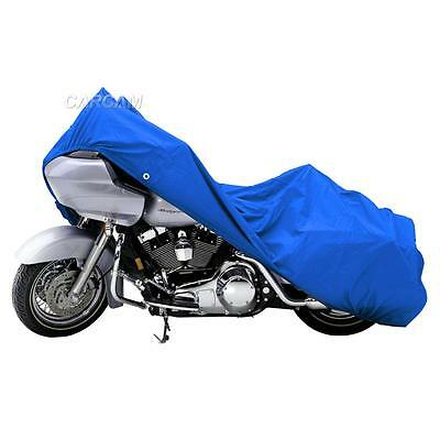 Blue Outdoor Motorcycle Storage Cover For Harley Davidson ULTRA CLASSIC XXXL