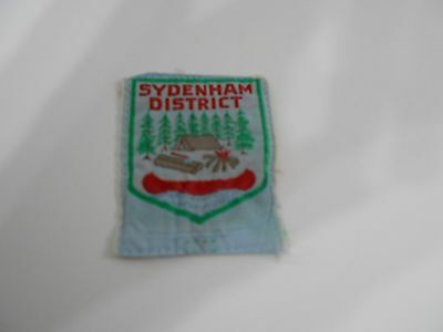 (Oe2-R)  Sydenham  Ontario  S18A   Used  Canadian Scout Badges