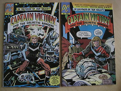 JACK KIRBY 's CAPTAIN VICTORY & GALACTIC RANGERS #s 1 & 2. PACIFIC COMICS.1981
