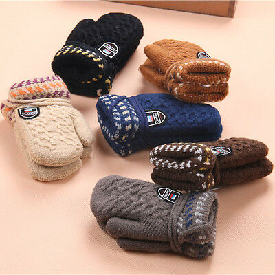 Hot Snowflake Warm Infant Baby Girls Boys Weave Fall Winter Warm Gloves Mittens