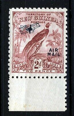 NEW GUINEA KG V 1931 Bird of Paradise 2d. Claret Overprinted Air Mail SG 166 MNH