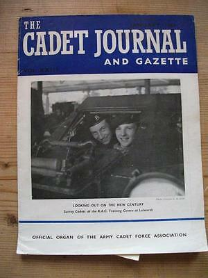 The Cadet Journal and Gazette- Army Cadet Force Magazine January 1961
