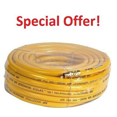"SIP 07704 3/8"" Workshop PVC Reinforced Compressor Air Hose Line 15M (07701)"