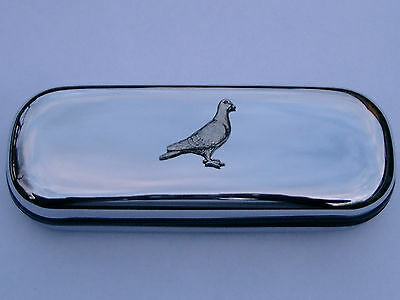 Pigeon/Dove racing  bird brand new chrome glasses case make a great gift Xmas