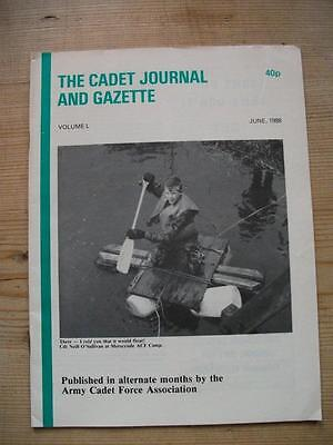 The Cadet Journal and Gazette- Army Cadet Force Magazine June 1988