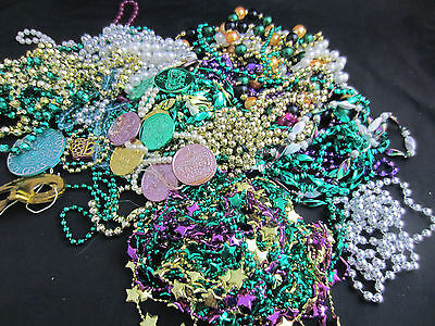almost 3 lbs of 1990s sparkly Mardi Gras Beads Endymion Bacchus