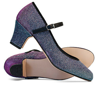 """Ladies Multi Glitter Character Stage Showtime Dance Shoes 2"""" Heel By Katz"""