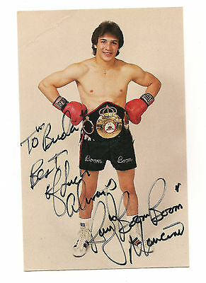 """Ray """"Boom Boom"""" Mancini Signed Color Photo Post Card Wearing Lightweight Belt"""