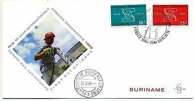 Suriname 1969 International Labour Organisation FDC