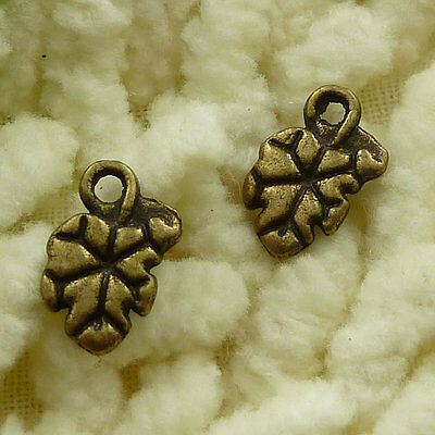 free ship 280 pieces Antique bronze leaves charms 11x7mm #3112