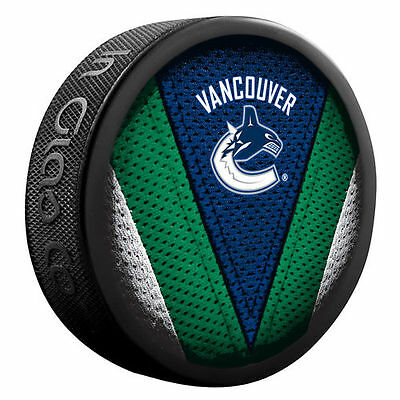 Sher-Wood Vancouver Canucks Stitch Hockey Puck