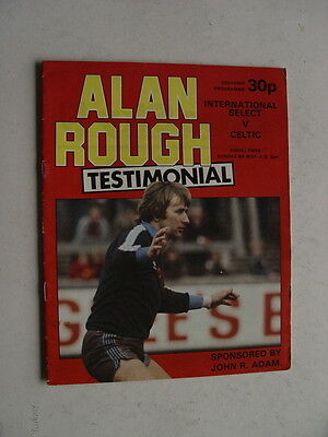 International Select v Celtic 1982 Alan Rough of Partick Thistle and Scotland