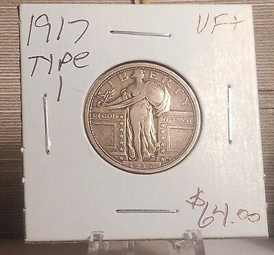 1917 Type 1 Standing Liberty Quarter VF+ ............... Priced to Sell