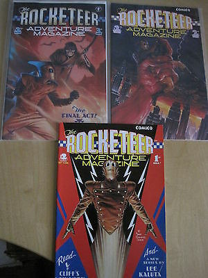 The ROCKETEER ADVENTURE MAGAZINE : COMPLETE 3 ISSUE SERIES. STEVENS. COMICO.1988