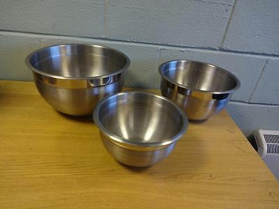 Kirkland Signature Mixing Bowls Stainless Steel 3 Bowls