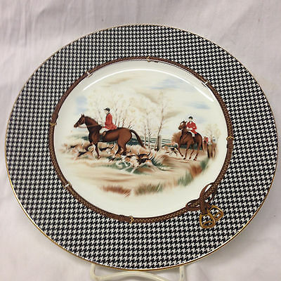 "Ralph Lauren China Wedgwood Balmoral Hunt Dinner Plate 10 3/4"" Dogs Horses"
