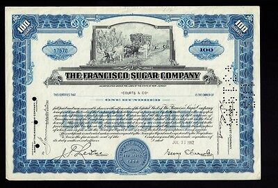 THE FRANCISCO SUGAR CO NJ 1952 issued to Courts & Co