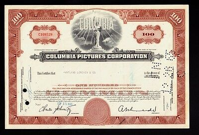 HOLLYWOOD :COLUMBIA PICTURES CORPORATION 1965 iss to Watling Lerchen